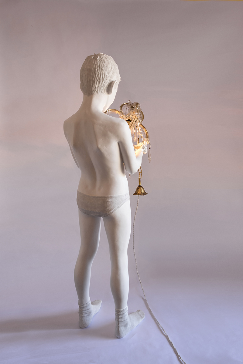 BEFORE THE BEGINNING (CHILD WITH CHANDELIER) - Marcantonio design