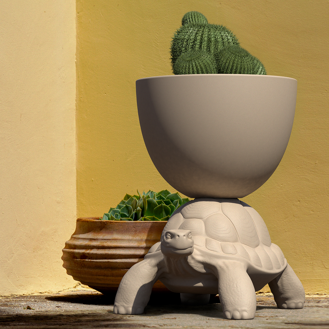 TURTLE CARRY PLANTER AND CHAMPAGNE COOLER - Marcantonio design