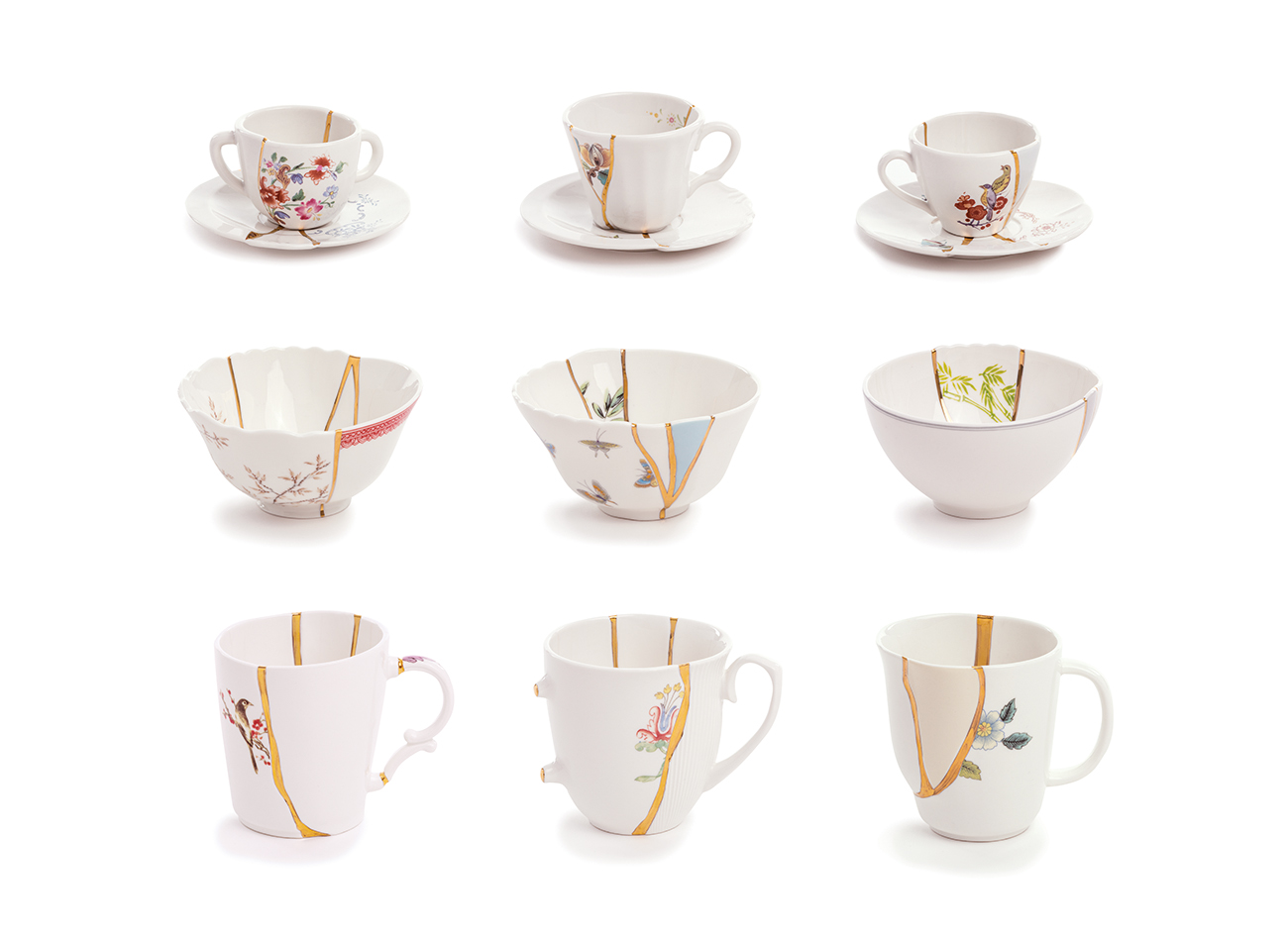 KINTSUGI coffee cups, bowls and mugs - Marcantonio design