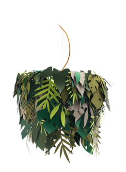 Suspension lamp with leaves lampshade - Marcantonio design