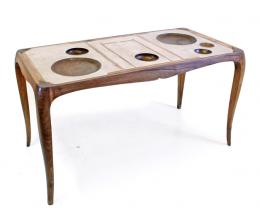 wood dishes are part of the top table - Marcantonio design