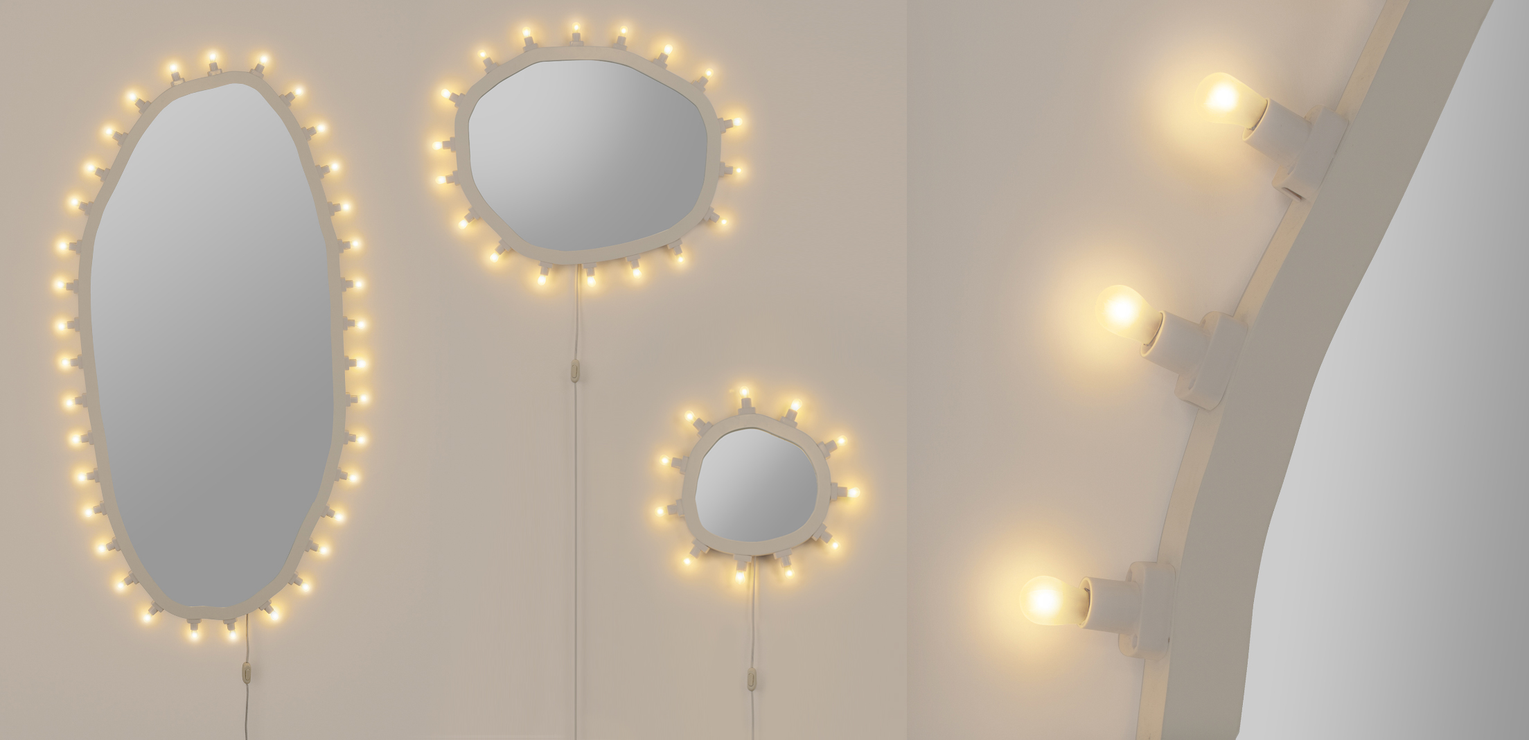LUMINAIRE The lights of tradition in a mirror - Marcantonio design