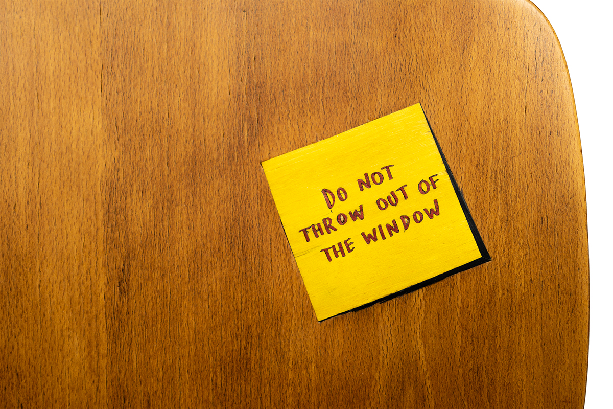 DO NOT THROW OUT OF THE WINDOW - Marcantonio design