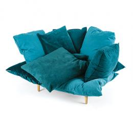 Very comfortable pillows armchair, with a fly attitude - Marcantonio design
