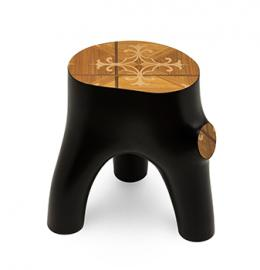 An organic stool made from a stump?